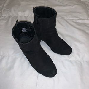 Black tall ankle booties